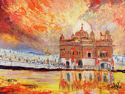 Golden Temple At Day Original
