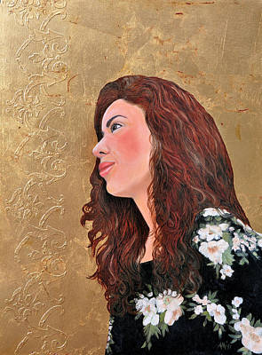 Painting - Golden Thoughts by Jan Amiss