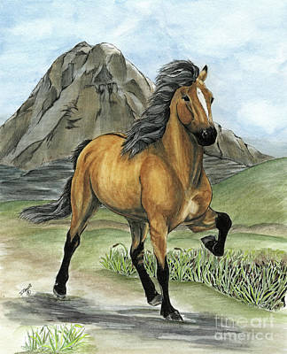 Painting - Golden Tolt Icelandic Horse by Shari Nees