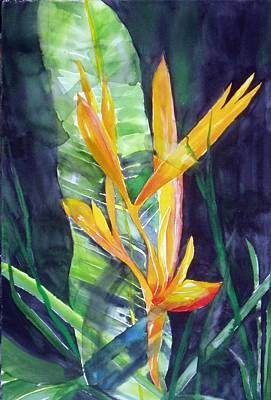 Golden Torch Art Print by Maritza Bermudez