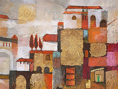 Painting - Golden Town by Lutz Baar