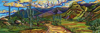Painting - Golden Trail by Alexandria Winslow