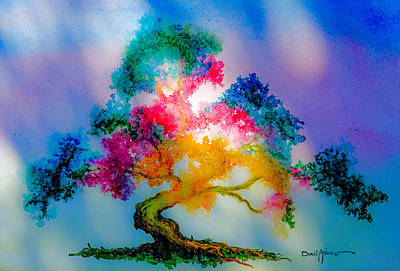 Painting - Da183 Golden Tree Daniel Adams by Daniel  Adams