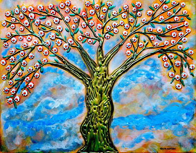 Painting - Golden Tree by Gina Nicolae Johnson