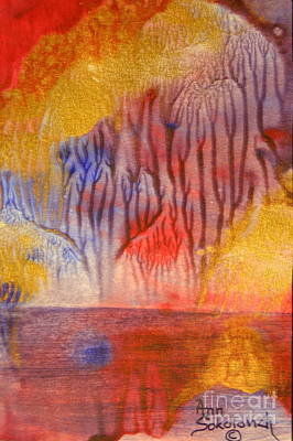 Golden Trees Of The Enchanted Forest Print by Ann Sokolovich