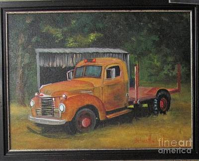 Painting - Golden Truck  by Barbara Haviland