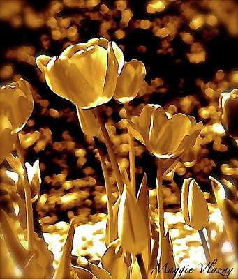 Photograph - Golden Tulips by Maggie Vlazny
