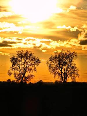 Two Suns Photograph - Golden Twins by Scott Hovind