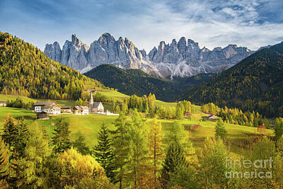 Photograph - Golden Val Di Funes by JR Photography