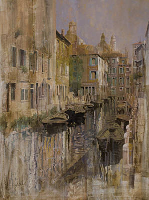 Curated Bath Towels - Golden Venice by Guido Borelli