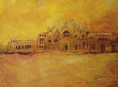Golden Venice Art Print by Michela Akers