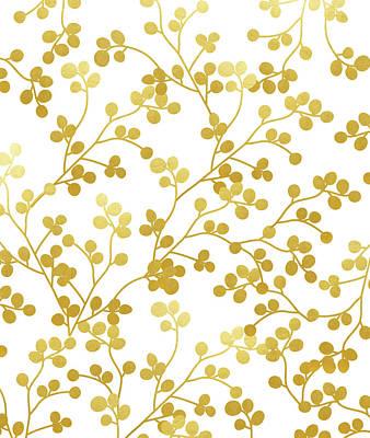 Digital Art - Golden Vines by Uma Gokhale