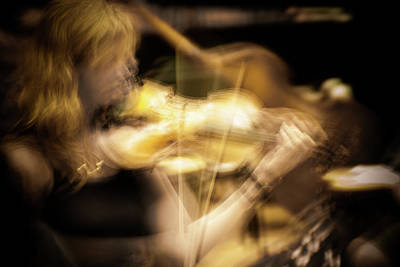 Golden Violin -  Art Print by Julie Weber