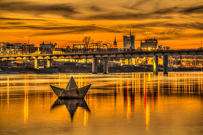 Photograph - Golden Vistula by Julis Simo