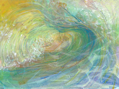 Oceania Painting - Golden Waters by Arlissa Vaughn