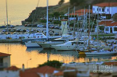 Photograph - Golden Waters At The Port by Vicki Spindler