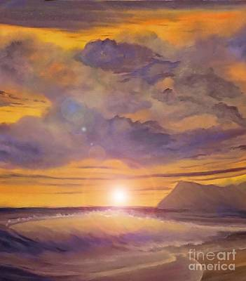 Painting - Golden Wave by Holly Martinson