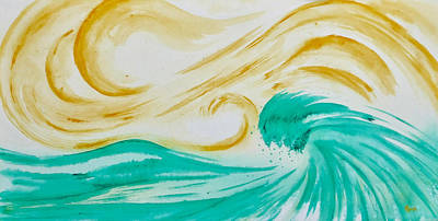 Painting - Golden Wave by Kathryn Rone