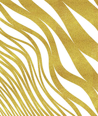 Digital Art - Golden Wave by Uma Gokhale