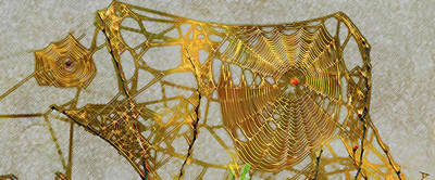 Painting - Golden Webs by David Lee Thompson