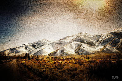 Digital Art - Golden West Road by Richard Ricci