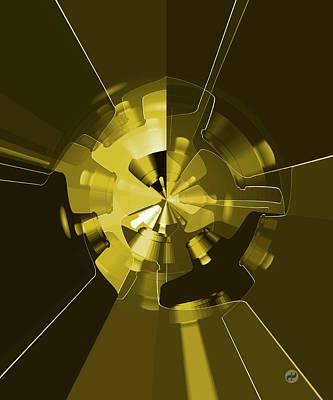 Wall Art - Digital Art - Golden Wheels by Digital Painting