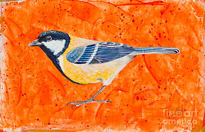 Painting - Golden Whistler by Stefanie Forck