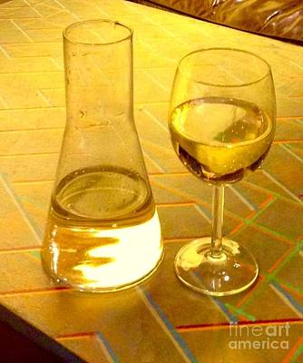 Photograph - Golden White Wine by Joan-Violet Stretch
