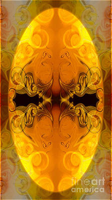 Digital Art - Golden Wings Abstract Organic Bliss Art By Omaste Witkowski by Omaste Witkowski