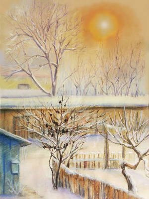Pastel - Golden  Winter Morning  by Svetlana Nassyrov