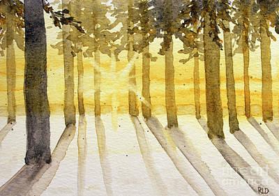 Painting - Golden Winter Sunrise by Rebecca Davis