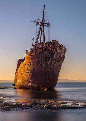 Photograph - Golden Wreck by Jaroslaw Blaminsky