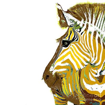 Painting - Golden Zebra by Saundra Myles