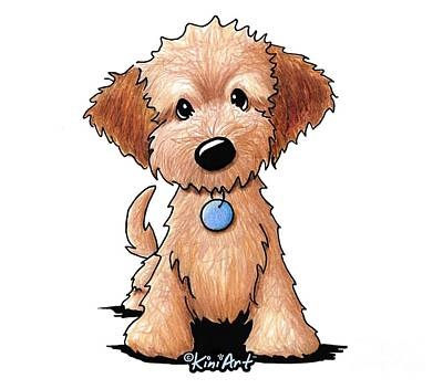 Painting - Goldendoodle Puppy Poster by Kim Niles