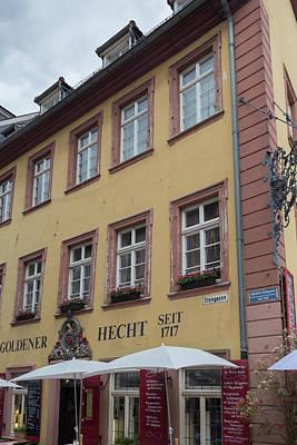 Photograph - Goldener Hecht Heidelberg by Teresa Mucha