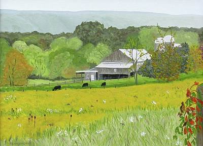Painting - Goldenrod Abounds by Barb Pennypacker