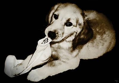 Golden's Best Friend Art Print by Rora