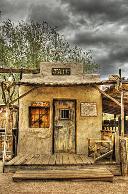 Historic Architecture Photograph - Goldfield Ghost Town - Jail  by Saija  Lehtonen