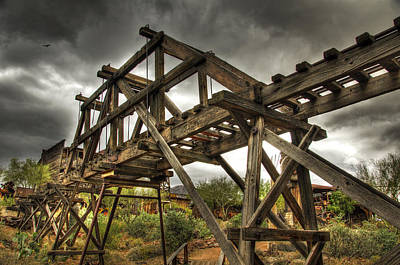 Historic Architecture Photograph - Goldfield Ghost Town - The Bridge  by Saija  Lehtonen