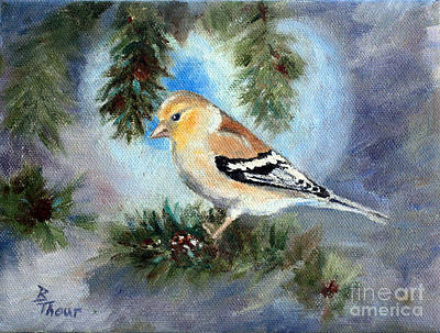 Painting - Goldfinch In A Tree by Brenda Thour