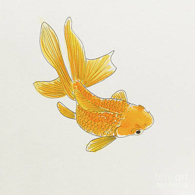 Painting - Goldfish 1 by Stefanie Forck