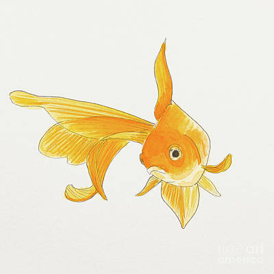Painting - Goldfish 2 by Stefanie Forck