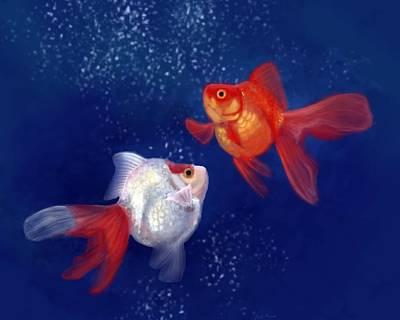 Digital Art - Goldfish by Angela Murdock