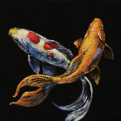 Goldfish Wall Art - Painting - Goldfish Crossing II by Tracie Thompson