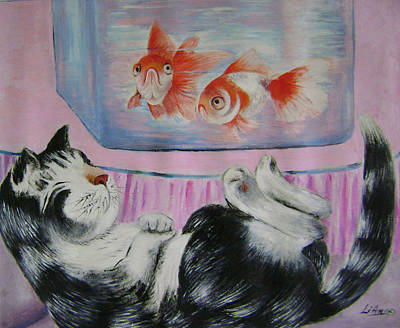 Goldfish Dream Art Print by Lian Zhen
