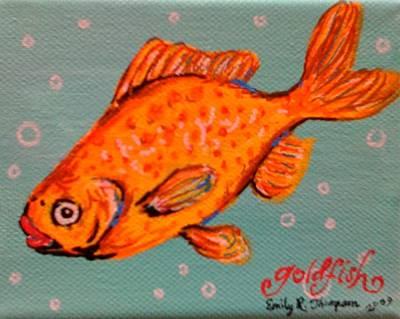 Goldfish Art Print by Emily Reynolds Thompson