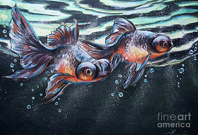 Painting - Goldfish by Lachri