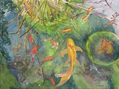 Goldfish Pond 1 Art Print by Madeleine Arnett
