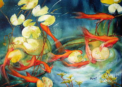 Painting - Goldfish Pond by Shirley Braithwaite Hunt
