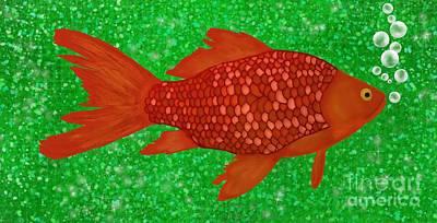 Goldfish Digital Art - Goldfish  by Priscilla Wolfe